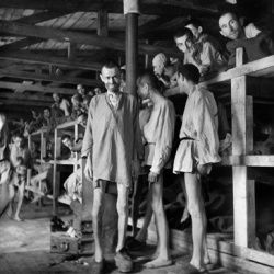 Prisoners at Buchenwald concentration camp in Germany in April 1945, just after the camp was liberated by the army of Gen. George S. Patton.