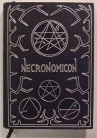 Cover of the Necronomicon book.