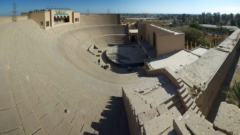 ruins of an amphitheater in the ancient city of Babylon