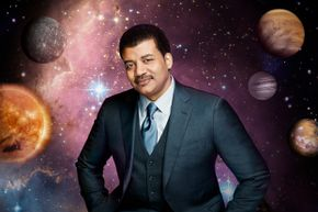 Is this the hardest-working astrophysicist? NDT is shown in another promotional shot for 'Cosmos.'