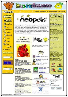 Neopets homepage
