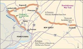 This map will guide you along Revolutionary War Trail.