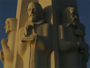 Without these three -- (L to R) Isaac Newton, Johannes Kepler and Galileo on the Astronomers Monument at the Griffith Observatory in Los Angeles -- where would science be?