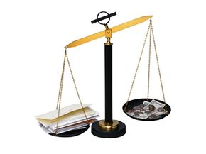 Net worth is largely about balancing your assets with your debt to see which way and how far you lean.
