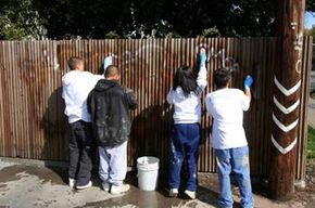 Net Generation students participate in community service programs.