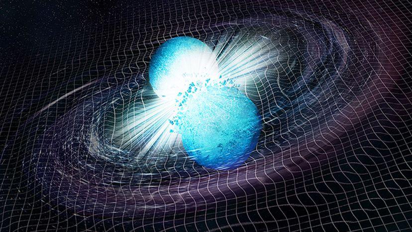 Illustration of neutron star collision