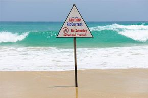 Rather than swimming toward shore if you're caught in a rip current, swim parallel to shore until you bypass the current.
