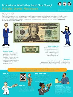 This educational poster can be downloaded from The New Color of Money Web site, to be used in schools, libraries and other public facilities.