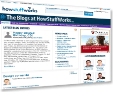 Blogs, like the ones at HowStuffWorks, are a lot like keeping an online journal.