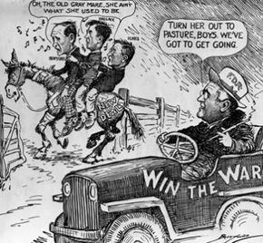 President Roosevelt eventually had to shift his focus from the economy to World War II, but not everyone was happy with his decision.