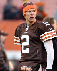 Quarterback Tim Couch of the Cleveland Browns walks off the field after the game against the Baltimore Ravens in 2003.
