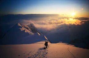 Alaska Image Gallery Night descends on Mount McKinley in Alaska. See more pictures of Alaska.