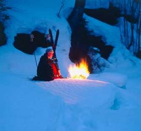 You'll need fire to stay physically protected for a night in Alaska.