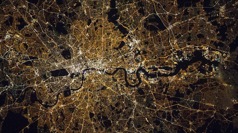 night, light pollution