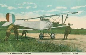 'V-strut' engineering dominated the French Nieuport 17. The quick-climbing plane was flown in World War I combat by seven countries, and many of its pilots became aces.