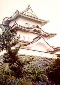 "The Hakuhojo White Phoenix Castle, often referred to as the ""ninja castle,"" in Iga-Ueno City"
