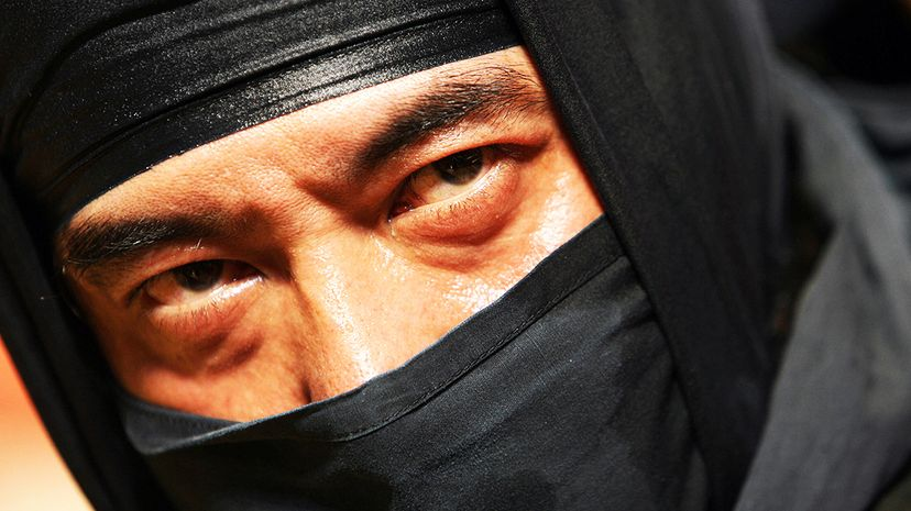 Shrouded in mystery, ninja were reputed to be masters of disguise and have mythical powers like the ability to walk on water and disappear in the blink of an eye. MIKE CLARKE/AFP/Getty Images