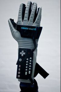 The fingers of the Power Glove contained fiber optic tubes to track user movements.