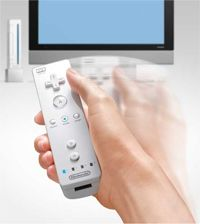 The Wii controller in action
