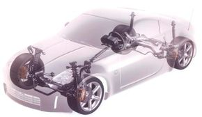 Despite sharing its platform, the 350Z had unique engineering in the front suspension system.