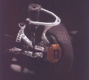 The liberal use of aluminum suspension components helped reduce weight in the 350Z.