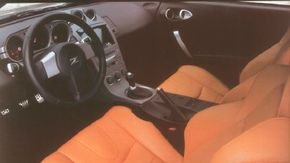 The 350Z driver's seat had extra bolstering for support during pedal operation.