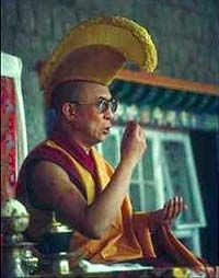The most famous Buddhist figure today, Tenzin Gyatso, the 14th Dalai Lama: His followers consider him a living buddha, the incarnation of the Buddha of Compassion.