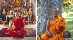Buddhist monks spend a lot of time in solemn meditation, but most are also jovial and light-hearted much of the time.