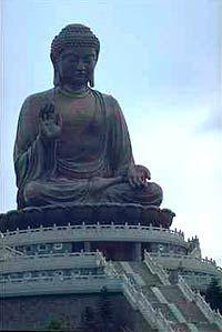 The world's tallest bronze Buddha statue, on Lantua Island in Hong Kong