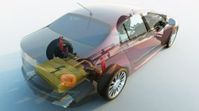 transparent hybrid car