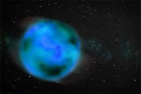 Artist's rendition of a nomad object wandering the interstellar medium. The object is intentionally blurry to show uncertainty about whether or not it has an atmosphere. See more space exploration pictures.