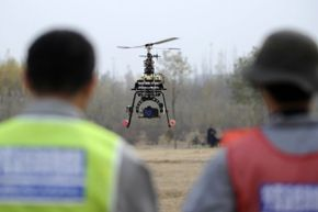 A demonstration event in China's Ningxia Hui Autonomous Region in October 2012 showed off the ability of UAVs to monitor agriculture, forestry, land resources and water resources.