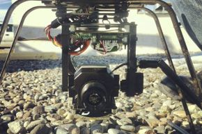Cameras have been used on police drones like this one for years -- it's no big surprise to know that creepers want to use the tech, too.
