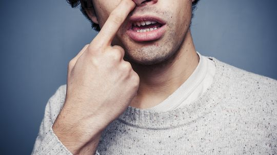 How do boogers form in your nose?
