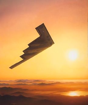 Aerospace pioneer Jack Northrop gambled and lost on his fabulous N-1M Flying Wing bomber of the 1940s. Four decades later, his vision was vindicated by Northrop Grumman's B-2 Spirit bomber, an exciting update of Jack Northrop's flying wing configuration. See more military jets pictures.