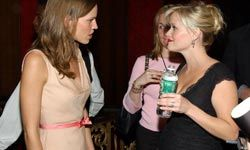 Let's hope Hilary Swank didn't put her foot in her mouth when she caught up with a pregnant Reese Witherspoon at a movie premiere back in 2003. See more pregnancy pictures.