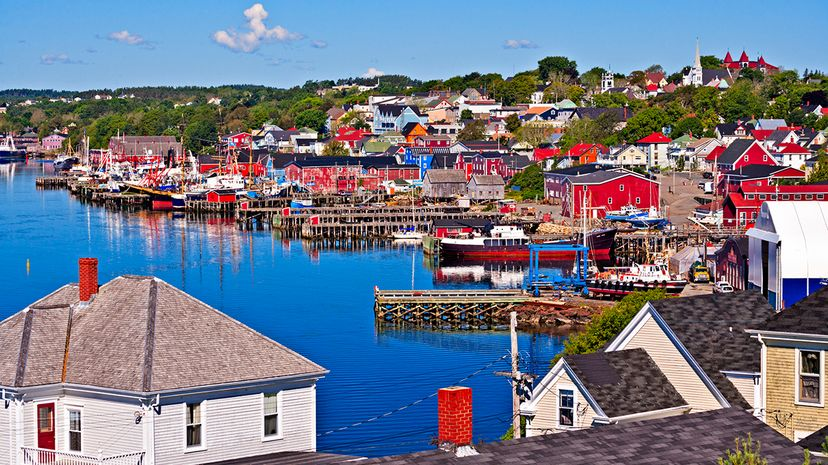 The town of Lunenburg, Nova Scotia, is representative of the region's maritime history, and is a UNESCO World Heritage Site. Rolf Hicker/All Canada Photos/Getty Images