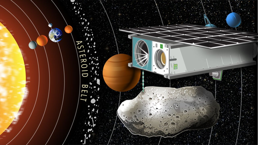 The company Planetary Resources hopes to harvest space rocks for valuable resources and commodities. It is launching its Arkyd 6 probe (pictured) in December 2015. HowStuffWorks