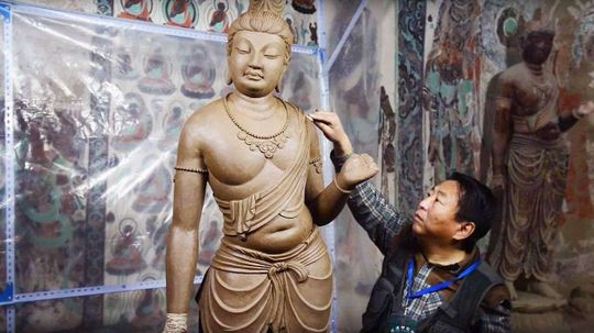 Watch: China's Ancient Buddhist Cave Art Perfectly Recreated in L.A.