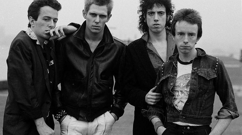 The Clash in New York, 1978. Left to right: singer Joe Strummer, bassist Paul Simonon, guitarist Mick Jones and drummer Nicky 'Topper' Headon. Michael Putland/Getty Images
