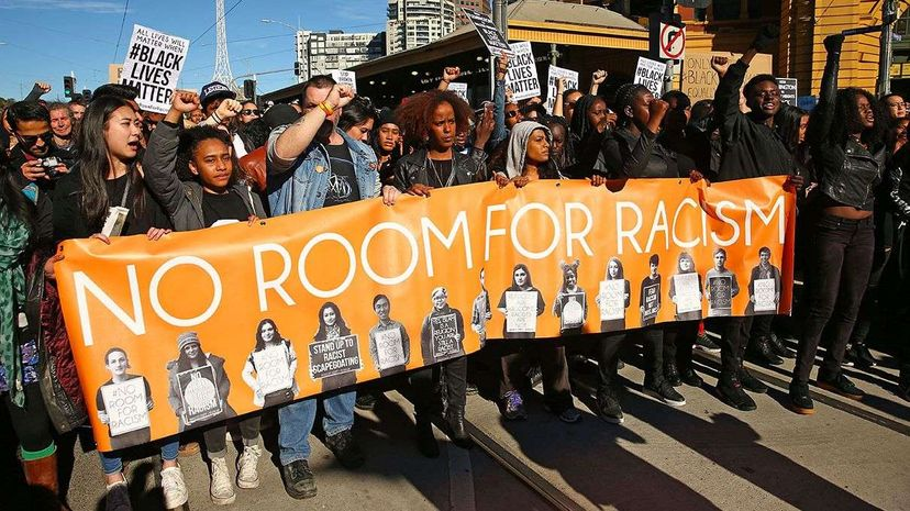 The #BlackLivesMatter movement is no longer a United States phenomenon; these protesters are at a rally in Melbourne, Australia. Scott Barbour/Getty Images