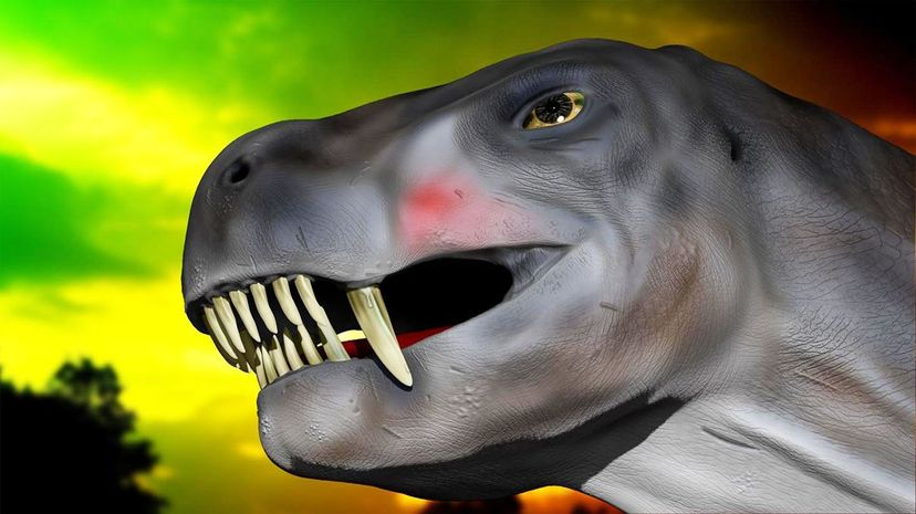 An artist's rendering of what the reptilian Euchambersia, the size of a small dog, could have looked like. Wits University