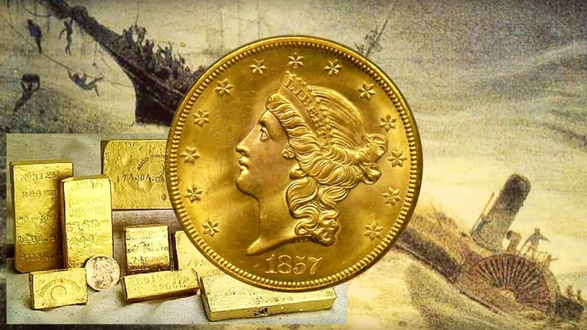 The shipwreck of the S.S. Central America triggered an economic panic in 1857 due to the amount of gold lost at sea. Slate Magazine/YouTube