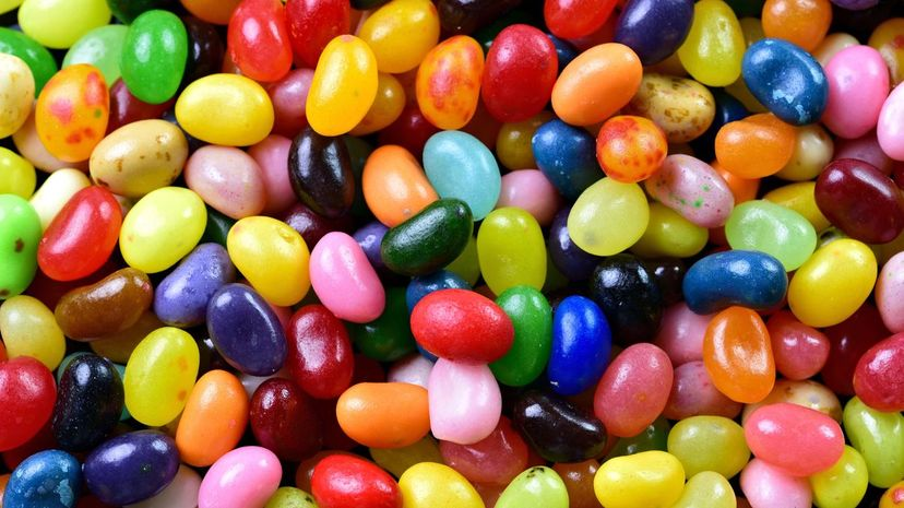 """Despite many people bypassing black jelly beans when scooping up the treats, licorice jelly beans remain one of Jelly Belly's 50 """"official"""" flavors, alongside staples like buttered popcorn, cinnamon and juicy pear. Cathy Scola/Moment/Getty Images"""