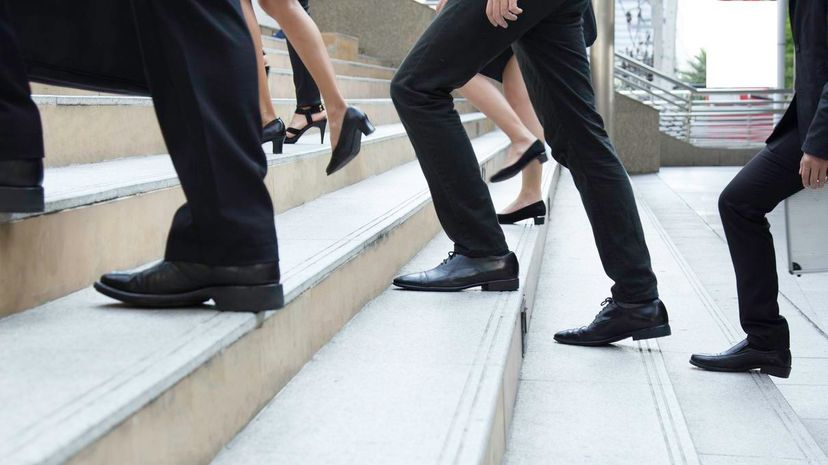 According to a new study, taking a break to walk stairs could be a better pick-me-up than a dose of caffeine. NChamunee/iStock/Thinkstock