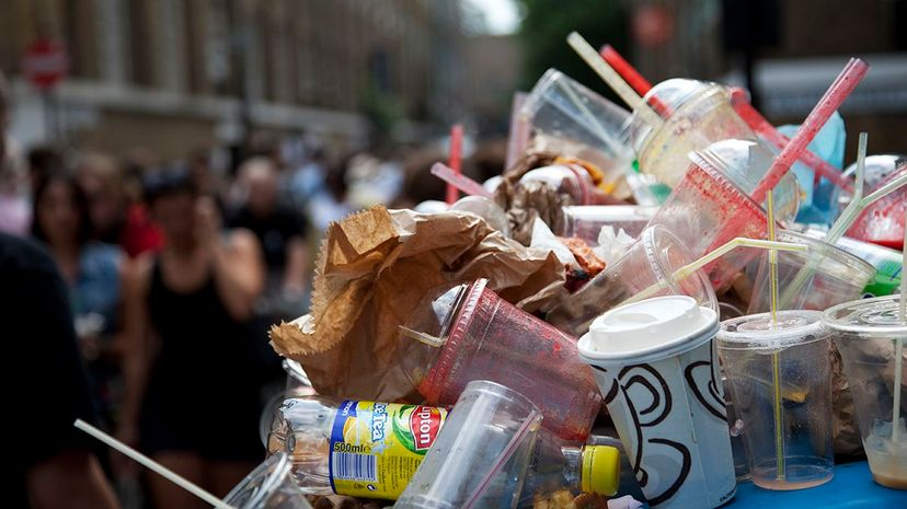 Most disposable straws are made from a petroleum-based plastic and can end up harming wildlife when discarded. In Pictures Ltd./Corbis via Getty Images
