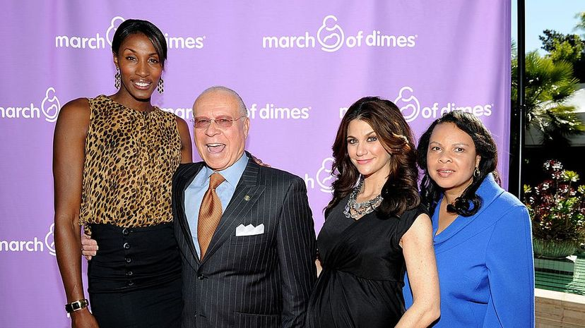 Former professional basketball player and model Lisa Leslie (left) is 6 feet 5 inches. Michael Buckner/WireImage/Getty Images