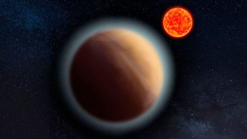 Artist's impression of Gliese 1132b and its red dwarf star. MPIA