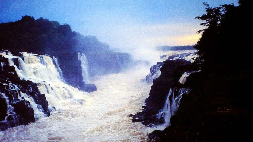 Guair Falls, pictured here in December 1978, was submerged after the construction of Itaipu Dam. Mario Cesar Mendona Gomes/Flickr