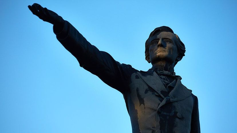The statue of Jefferson Davis, pictured, is one of four Confederate monuments that New Orleans city officials plan to take down. Davis was the president of the Confederate states during the Civil War. Ben Depp for The Washington Post via Getty Images